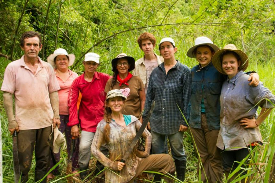 The Community Carbon Trees Team smiling after a hard morning's work of planting trees. The love for trees and biodiversity is their fuel.