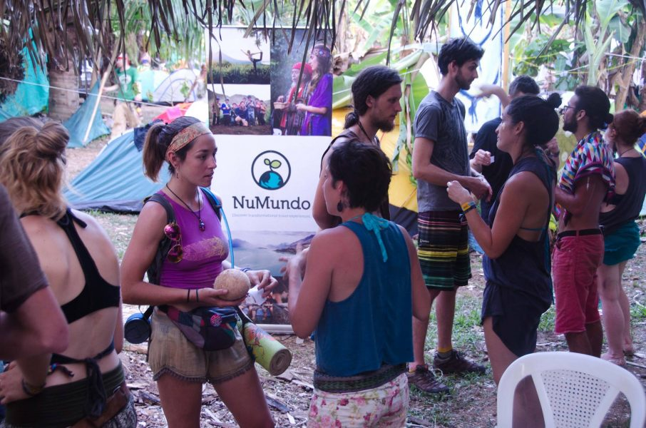 Networking at the NuMundo space inside Envision Festival 2016