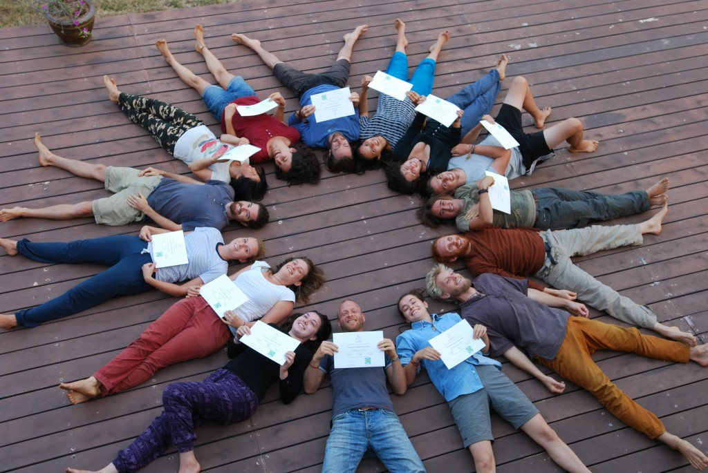 12 new PDC graduates at Kailash Akhara, Thailand, Photo by Sukha