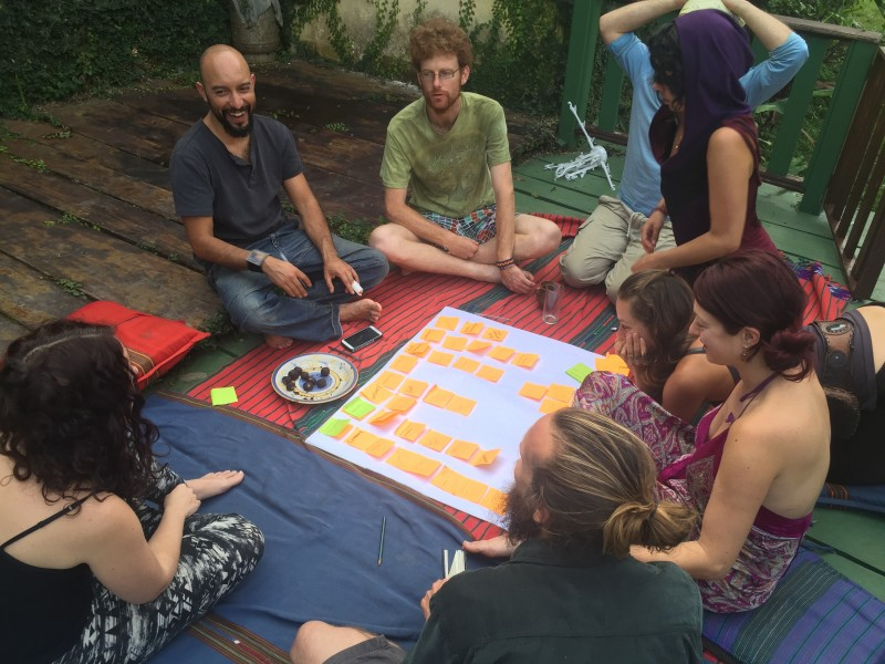 One of our work retreats in Lanquin, Guatemala, visioning and dreaming!