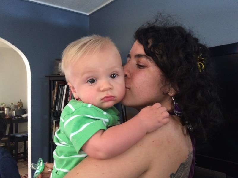 My precious 8-month old nephew Julian and I during my digital detox,