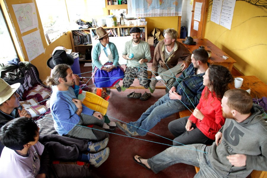 Local Quechua and international students: Mapping a network of interconnectedness, from the micro- to macro-level.