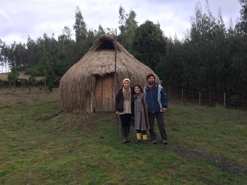 Finishing our land tour in front of her Ruca with the wonderful, Luz.