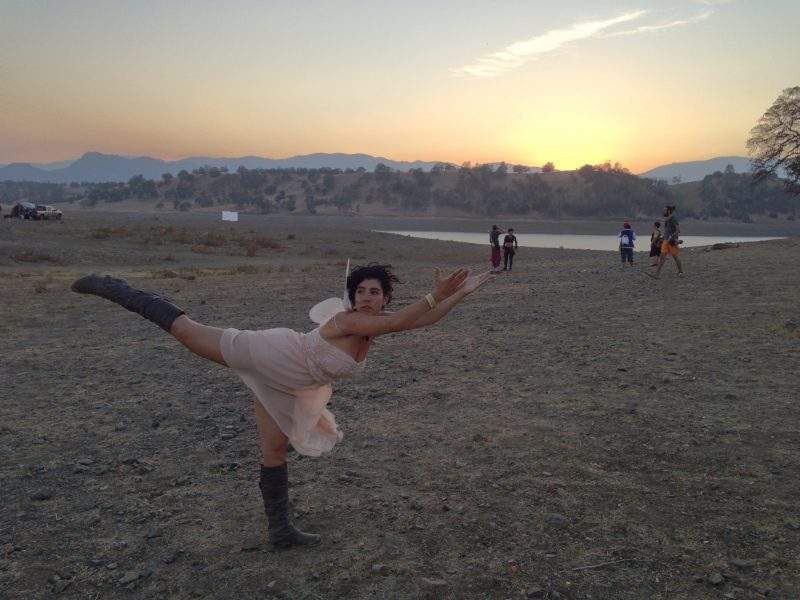 Shayna Gladstone expressing herself at Foreverland Festival in California.